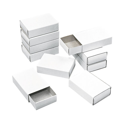 Streichholzschachteln, klein Beutel 12 Stück, 5,3x3,6x1,5 cm