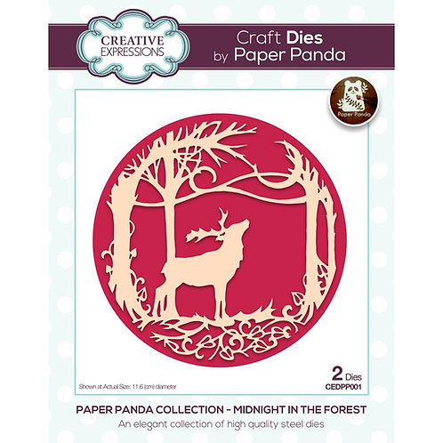Creative Expressions  Paper Panda Stanzschablo Midnight forest