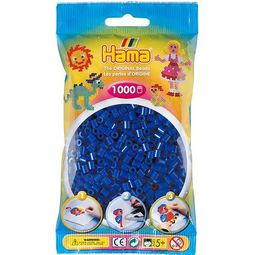 Midi Perlen 5mm in Beutel, 1000 Perlen blau