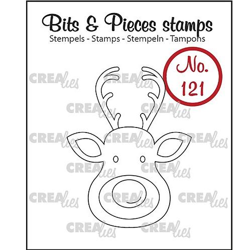Crealies Bits & Pieces Stempel no. 121 Rentierkopf