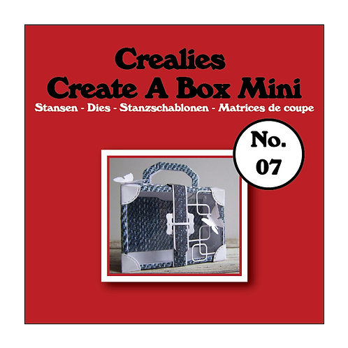 Crealies Stanzschablone No.07  Box Koffer Mini