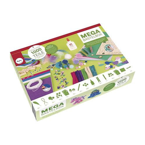 Mega Bastelbox Fantasy 1.000 Teile blau-grün/pink-lila Töne, Box