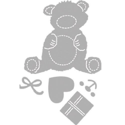 Stanzschablone glücklicher Bär 1,5-5,7cm, SB-Btl 1Stück