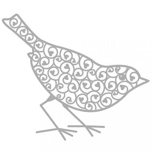 Delicate Stanzschablone Vogel 10,9x9,3cm