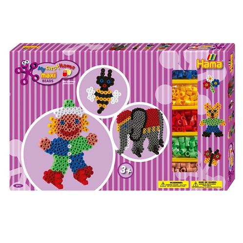 Geschenkpackung Zirkus, 900 Maxi Perlen 10mm und Zubehör
