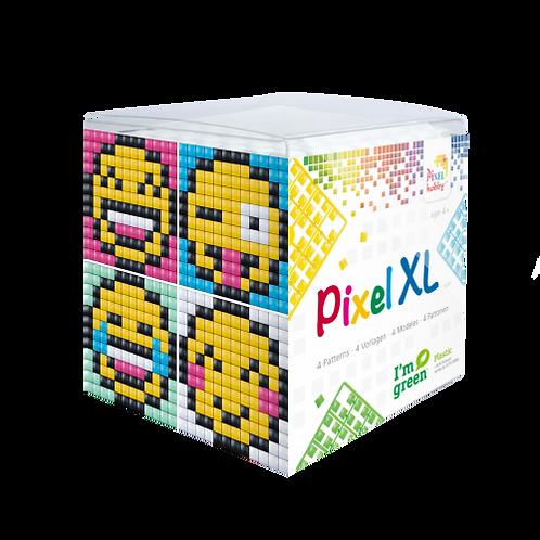 Pixel XL Würfel Smiley - vier Sujets