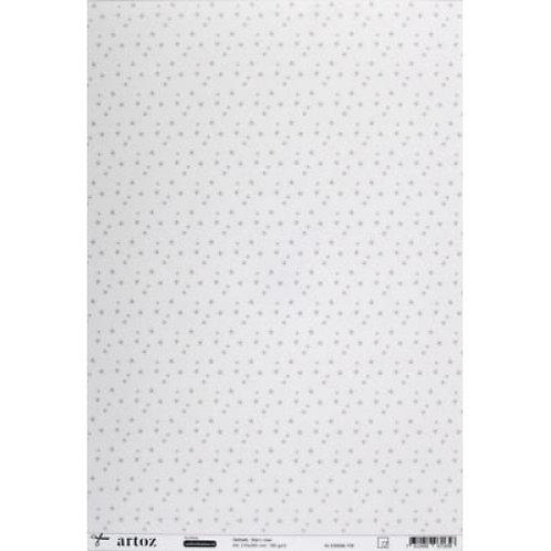 Artoz Papier selbstklebend, Stern rose, A4 180gm2