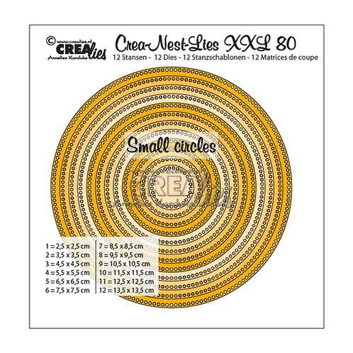 Crealies  Crea-Nest-Lies XXL Stanzschablone no.80 Kreise mit kleinen Löchern