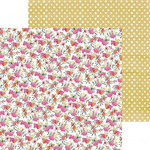 Scrapbookingpapier Pink Protea, 30,5x30,5cm, 150g/m2