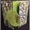 Thumbnail: Holz Streuteile Kelch 2x3,3cm, m. Klebepunkt, SB-Btl 12Stück, silber