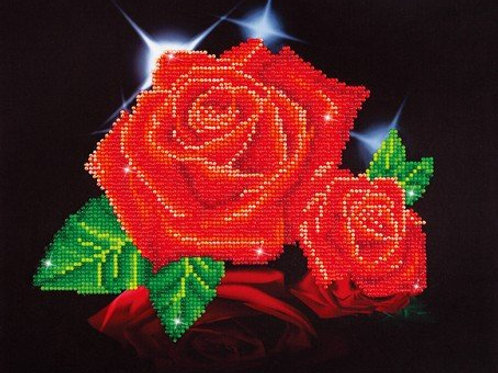 DD Red Rose Sparkle 27.9x35.5cm