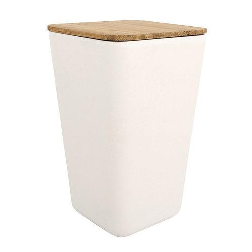 Bambus Vorratsdose quadrat, 1200ml, 11x11x18,5cm