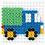 Thumbnail: Midi Stiftplatte weiss - Kleines Quadrat (196 Stifte) 7.5x7.5cm