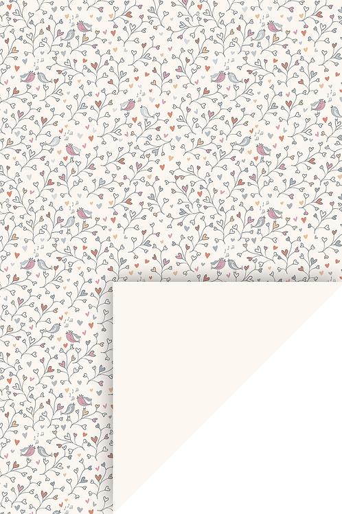 "Motivkarton ""Birdie"" A4 (21 x 31 cm inkl. Codierleiste) koralle"