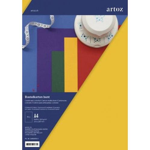 Artoz Bastelkarton Bunt 50 Karten, 210x297mm, 5 Farben