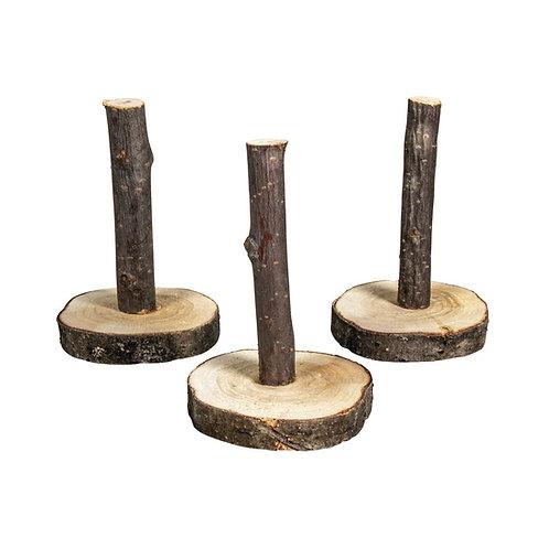Deko Holzständer natur, 4,5-5,5cm ø, 8cm, Bund 3Stück, natur