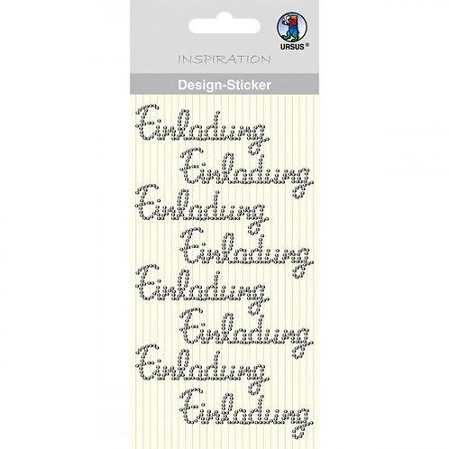 """Design Sticker """"Einladung"""""""