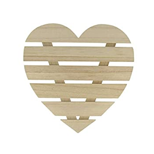 Holzlatten Herz zum Aufhängen natur