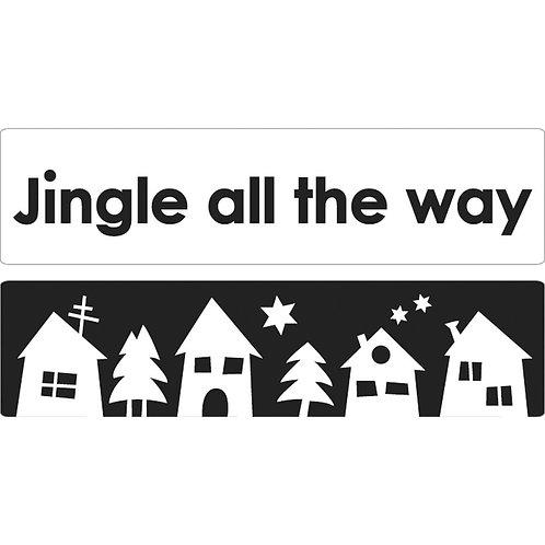 Labels Jingle all. + Weihnachtsdorf, 60x15mm, SB-Btl. 2Stk.