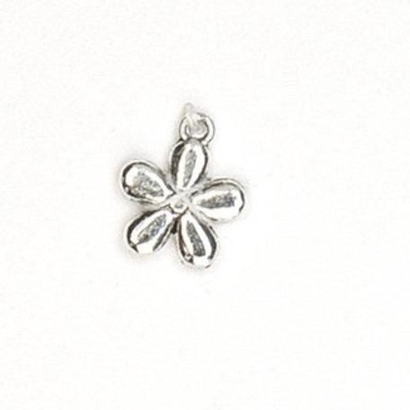 Metallanhänger Blume 11mm altsilber