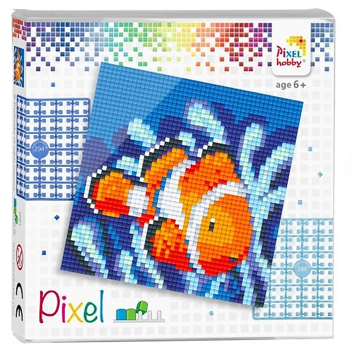 Pixel Set Quadrat Nemo - Bild aus 4 kleinen quadratischen Grundplatten