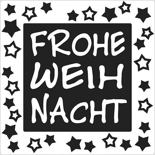Label Frohe Weihnachten, 50x50mm, SB-Btl 1Stück