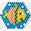 Thumbnail: Midi Stiftplatte weiss - Grosses Sechseck (721 Stifte) 16.5x14.5cm