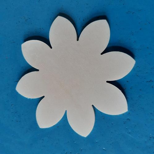 Blume 10cm Pappelsperrholz