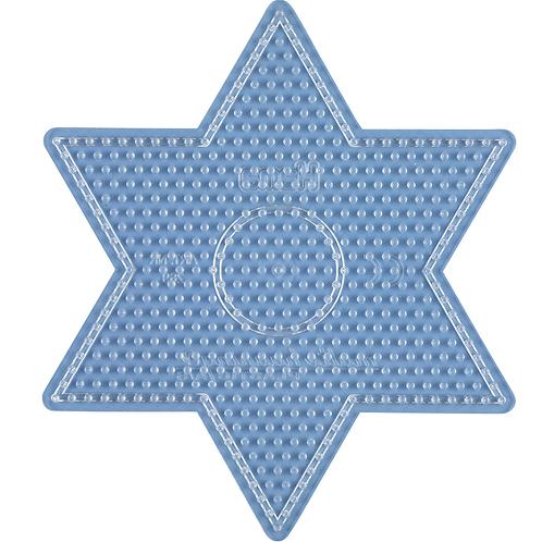 Midi Stiftplatte transparent - Grosser Stern (541 Stifte) 14.5x16.5cm