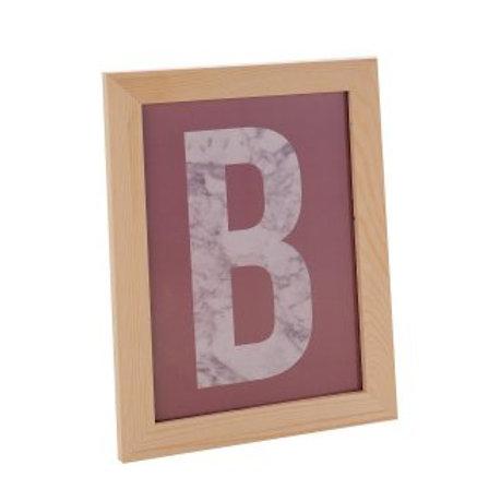 Holz Bilderrahmen A 4, mit Aufhängung