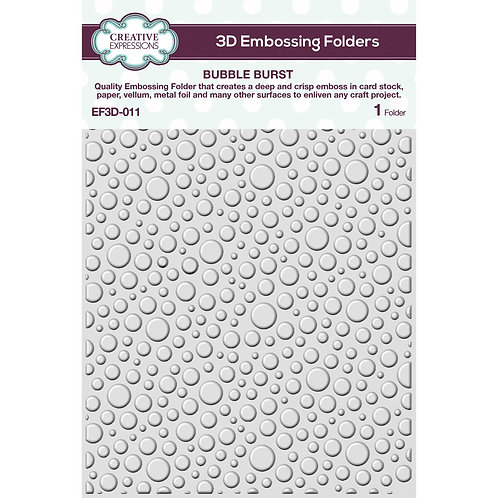 Creative Expressions Bubble Burst 5 3/4 in x 7 1/2 in 3D Embossing Folder