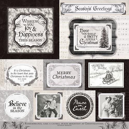 Kaisercraft paper 30.5x30.5cm Christmas edition melody