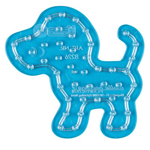 Maxi Stiftplatte transparent - Kleiner Hund (47 Stifte) 9x9.5cm