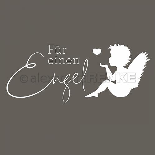 """Holz Stempel """"Für einen Engel"""" 40x16mm"""