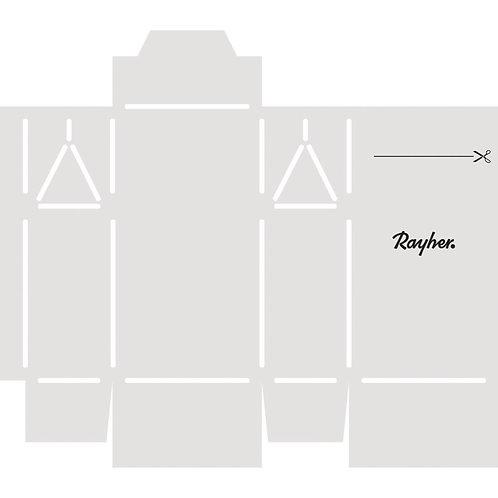 Papier Schablone Geschenkschachtel Mini, fertige Box 6x3,5x11cm