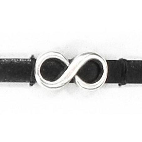Metallzwischenteil Infinity 15x8mm altplatin, für Band 5mm