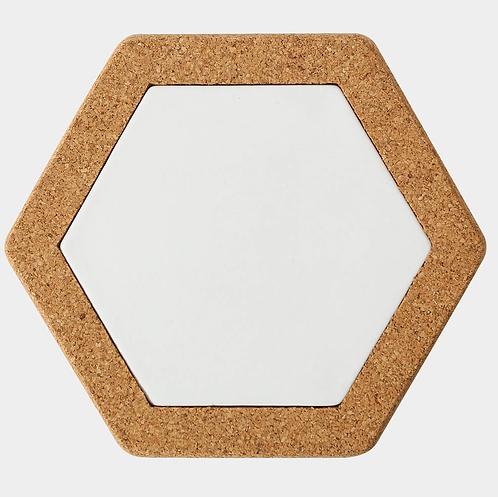 Korkuntersetzer Hexagon, 19 x 17 cm