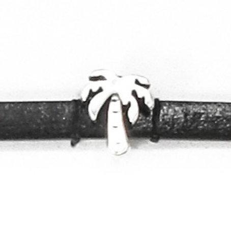 Metallzwischenteil Palme 11mm altplatin, für Band 5mm