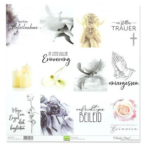 Vaessen Creative Papier Tags Trauer, 30.5x30.5cm