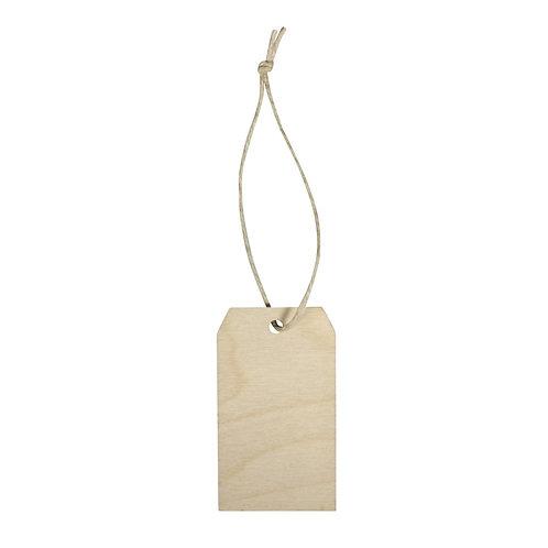 Holz Hänger Tag, FSC100% 4,5x8x0,3cm, SB-Btl 6Stück, natur