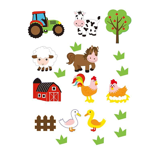 Moosgummi Sticker Bauernhof, 29St selbstklebend