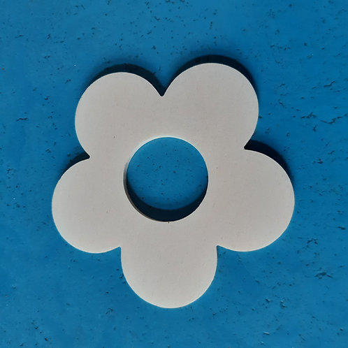 Blume 5-blättrig m. Loch 9cm Pappelsperrholz