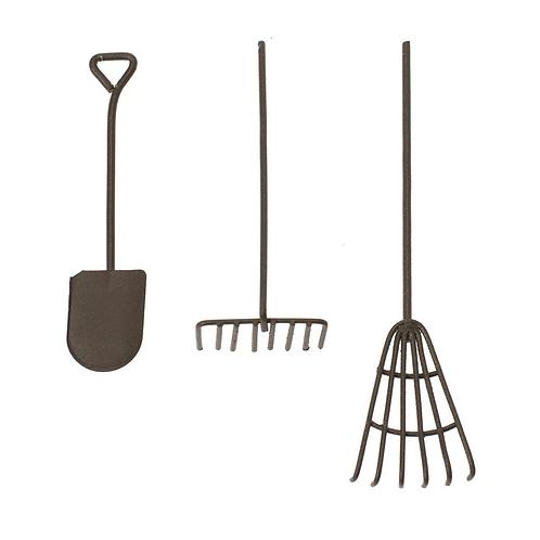 Garten Werkzeug Set 3tlg. rost 12cm