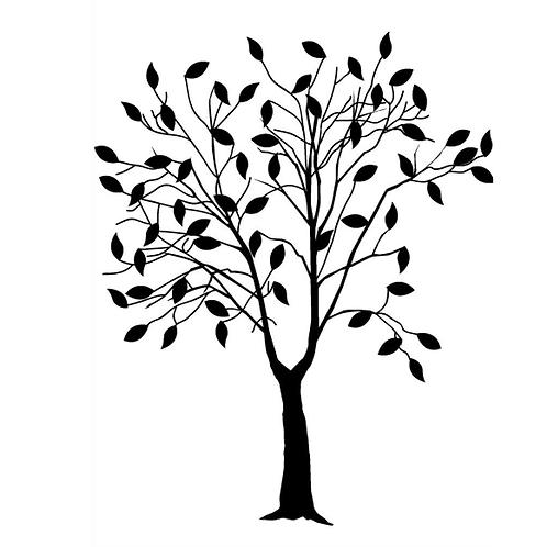 Darice Prägeschablone Baum mit Blätter 10.7x14.6cm