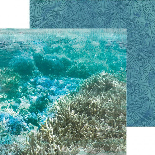 Kaisercraft paper 30,5x30,5cm Deep sea barrier reef