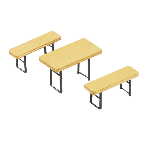 Biertisch-Garnitur-Set 6x3,5x3cm