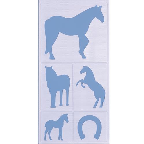 Malschablone haftend Pferde 20x10cm