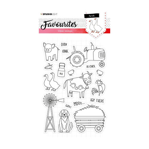 Studio Light, Clear stamp A5 Favourites nr.424