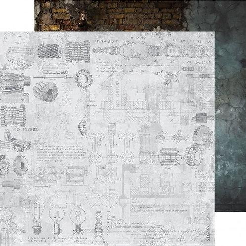 Kaisercraft paper 30,5x30,5cm Factory 42 Plans