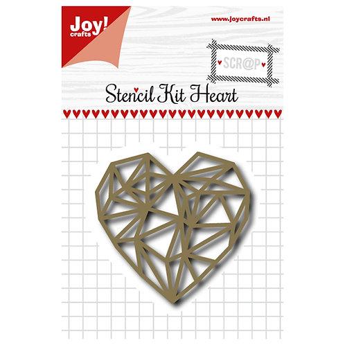 Joy!Crafts Stanzschablone Herz eckig
